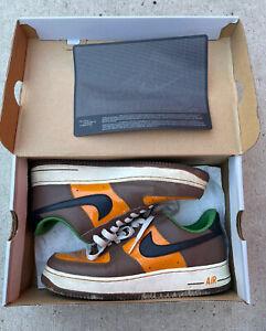 Nike AF1 Premium 06 Super Bowl XL Shoes Shock Orange / Black Bison Mens US 8.5