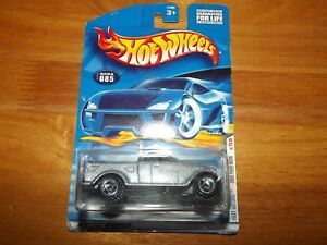 HOT WHEELS, FIRST EDITIONS, #25 OF 36, DODGE POWER WAGON, METALLIC SILVER, NOC
