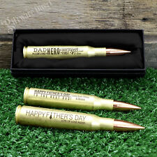 Engraved Fathers Day Bullet Bottle Opener 50 Caliber Gift Personalised Dad