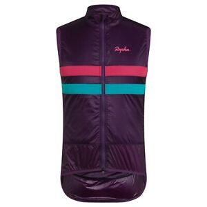 NEW Rapha Men's Cycling Brevet Insulated Gilet Vest L Purple Pink Teal DWR Light