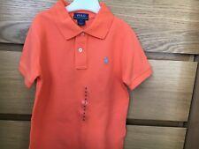 BNWT-Camisa Polo Ralph Lauren Chicos naranja edad 5 años