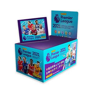 Panini 2020-21 English Premier League Soccer 100 Pack Sticker Box (500 Stickers)