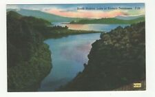 Vintage Linen Color Used Postcard South Holston Lake in Eastern Tennessee