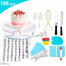 117 PCs Cake Decorating Kit Set And Turntable For Home DIY Assorted Sizes EH