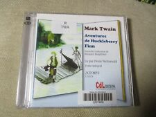 "LIVRE AUDIO PROMO ""LES AVENTURES DE HUCKLEBERRY FINN"" Mark TWAIN (2 CD)"