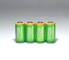 4pcs Etinesan 1350mah Cr123a 3V LiFePO4 lithium rechargeable 3.0v 16340 battery