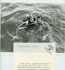 RICARDO MONTALBAN KEIR DULLEA SCUBA DIVER BLACK WATER GOLD 1969 ABC TV PHOTO