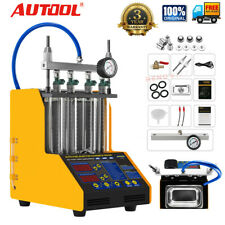 AUTOOL CT150 4Cylinder Ultrasonic Fuel Injector Cleaner&Tester Car Motor 110V