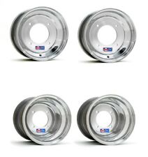 "DWT Polished 10"" Front and 9"" Rear Wheels Rims YFZ450 Banshee Raptor 700 660 250"