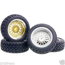 RC HSP 2082-8019 Plating Wheel Offset:6mm Rally Tires For 1:10 On-Road Rally Car