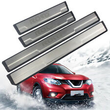 Door Sill Scuff Plate Pedal For Nissan ROGUE 2016-2019 Stainless Protective Trim