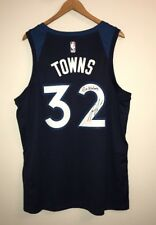 """Karl-Anthony Towns """"Go Wolves"""" Signed Timberwolves Nike Swingman 52 XL Jersey"""