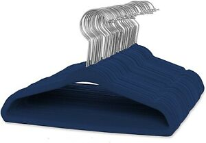 Velvet Hangers Clothes Heavy Duty Non Slip Black in Pack of 20 Color Choice