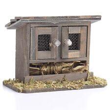 Miniature Fairy Garden Chicken Coop double door Bunny Hutch   MI 50449