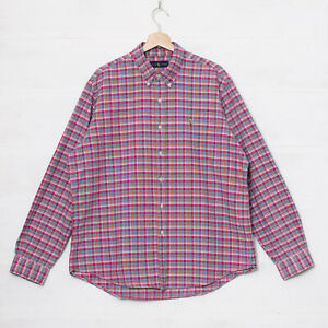 Polo Ralph Lauren Men's XXXL 3XL Pink Blue Check Cotton Button Down Shirt