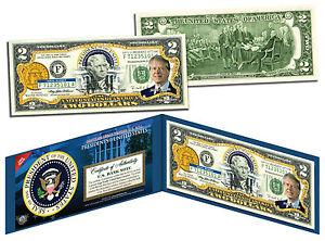 JIMMY CARTER * President 1977-1981 * Colorized $2 Bill US Genuine Legal Tender