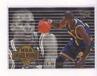 1994-95 FLEER ULTRA BASKETBALL NBA AWARD WINNERS INSERT CHRIS WEBBER #4 OF 4