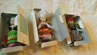 Lot of 3 Vintage Around The World Dolls, 60s-70's, France, Italy, Greece