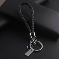 One Hot Creative Black Rope Car Hand Made Keychain Key Ring Auto Accessories