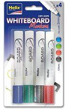 Maped helix tableau blanc marqueur-couleurs assort 745112-Drywipe pack de 4