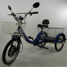 Adult electric mobility tricycle scooter in blue