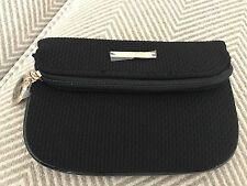 a173cf478ed8 GIORGIO ARMANI Black Textured Make Up Cosmetic Bag Party Clutch Pouch   New