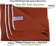 Vikan Microfibre Paño, de alta calidad. 40 X 40 Cm Rojo. 691144