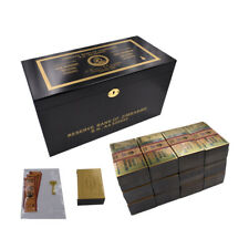 Wholesale Gold Banknote Zimbabwe Trillion Paper Money 1200pcs In Box with COA