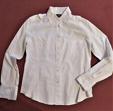 BOGNER Stretch Bluse Gr. M / 38-40 weiß, rosa abgesteppt
