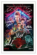 STRANGER THINGS CAST MULTI SIGNED PHOTO PRINT AUTOGRAPH