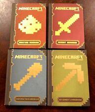 4 HB Minecraft books Construction Essential Handbook Redstone Combat Adventure