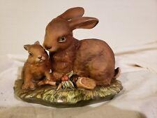 1979 Homco Masterpiece Porcelain Bunny Love Figurine Home Interiors