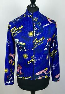 Fred Rompelberg Team Cycling Jersey Size S Full Zip Long Sleeved Bike Shirt