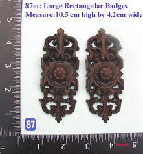 """87M """"2 badges"""" clock case / furniture DIY"""