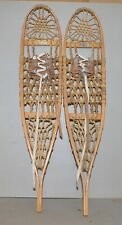 vintage Snowcraft Norway Maine snow shoes 10 x 46 collectible hunting trapping