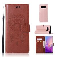 For Samsung S10 S10 Plus S10e Cover Kickstand Leather Magnetic Wallet Card Case
