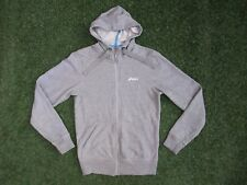 WORN ONCE ~ LADIES LOVELY GREY ASICS RUN SPORTS ZIP UP HOODY SWEATSHIRT ~ SMALL