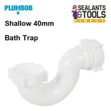 Plumbob 345423 Shallow Bath Shower Waste Trap Outlet 40mm Plastic Pipework
