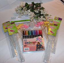 New Lot Art Craft Supplies Brush Marker Shimmer Stix Silk Flowers Pearl String