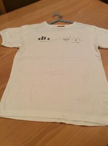 boys clothes 11-12 years Trespass White Cotton Go Further Short Sleeve T-shirt