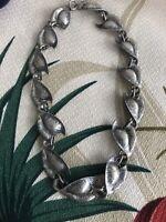 Sterling Silver Hawaiian Leaf Necklace Vintage 🌺🍃