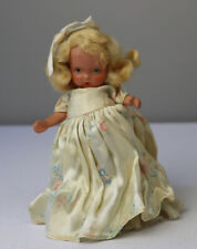 Vintage NANCY ANN STORYBOOK DOLL Bisque SILVER SHOES Molded Socks ROSES GOWN
