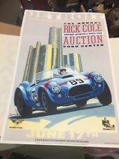 Rick Cole auctions Cobra Poster signed by designer.