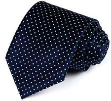 Slim Tie Navy Blue Silk Dot Woven Jacquard Necktie