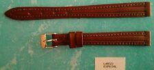 Correa de Piel Legitima para Reloj - 12mm - Largo Especial - Color Marron 1