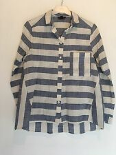 SIZE 8 TOPSHOP BLUE/WHITE STRIPE SHIRT/SUMMER/HOLIDAY/TOWIE/SMART/PARTY RRP £35