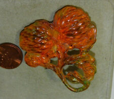 Vintage Art Deco Molded Celluloid Early Plastic Flower deisgn Pin Brooch  10i 73