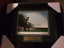 Tiger Woods Autographed Upper Deck UDA 8x10 Photo Framed