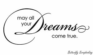 Dreams Come True Text, Wood Mounted Rubber Stamp PENNY BLACK - NEW, 4070F