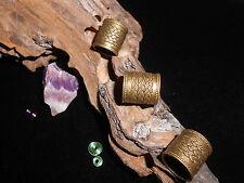 Dreadlock Perlas Antiguo De Bronce Gruesa 10 Mm Orificio Celta Tejido Tubos Para Xl temores